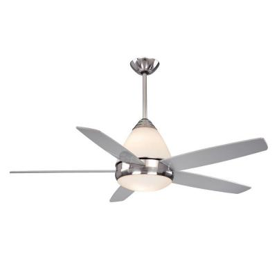 Fresco II 52 in. Satin Nickel Dual Mount Ceiling Fan